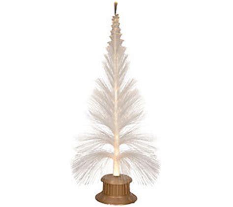 6ft fiber optic sparkling white and gold christmas tree