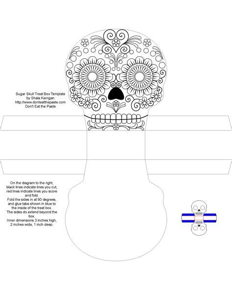 sugar skull design template 4 bp