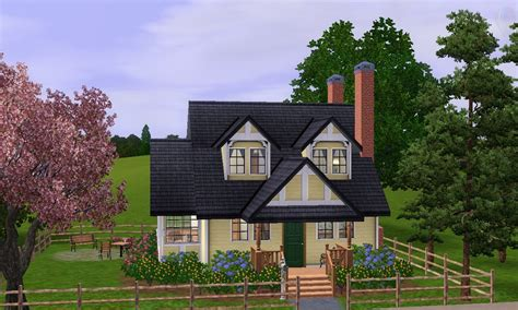 Sims 3 Cottage by Mod The Sims Grove Cottage