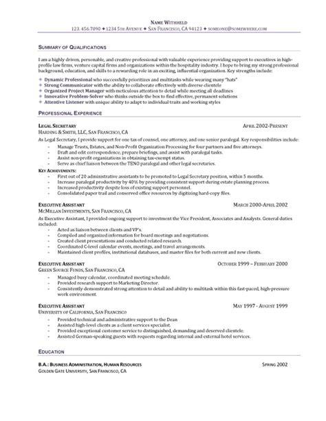 The Perfect Executive Assistant Resume   RecentResumes.com