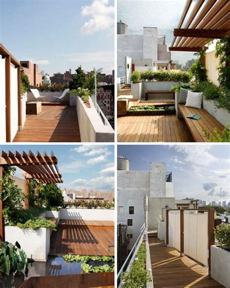 oasis rustic modern rooftop garden deck design