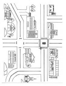 Blank Town Map by Blank Town Map Template Sketch Coloring Page