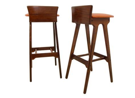 Erik Buck Bar Stools by Erik Buck Rosewood Bar Stools Orange And Brown