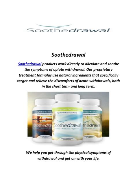 Remedies For Opiate Detox by Soothedrawal Remedies For Opiate Withdrawal Symptoms