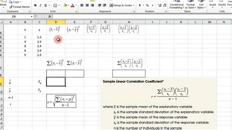 scatter plot and correlation coefficient excel youtube