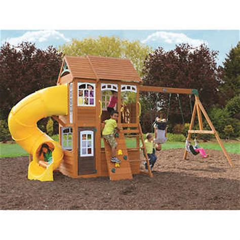 playground sets for backyards costco cedar summit richmond lodge wooden play set