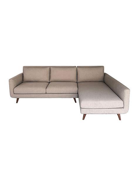 L Shaped Fabric Sofa Singapore by Yulia L Shaped Right Facing 3 Seater Sofa Sand Shop
