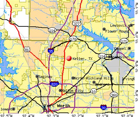 where is keller texas on map keller tx map