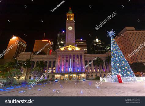 christmas lights australia lights brisbane australia taken 2009 front stock photo 471880979