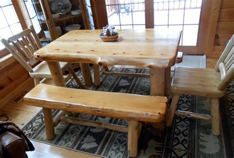 explore rustic log dining room tables