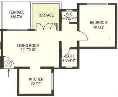 Apartment Floor Plans With Dimensions by Elegant 1bhk Apartment Floorplan Design