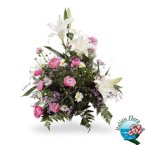 fiori funebri composizione funebre e rosa