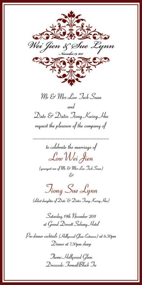 wedding invitation card bangsar