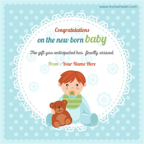 new baby greeting card template create congratulations on new baby born picture