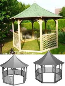 tonnelle bois jardin tonnelle de jardin bois octogonale pavillon kic35 pas cher