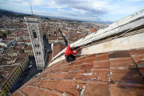firenze cupola firenze gli alpinisti scalano la cupola brunelleschi