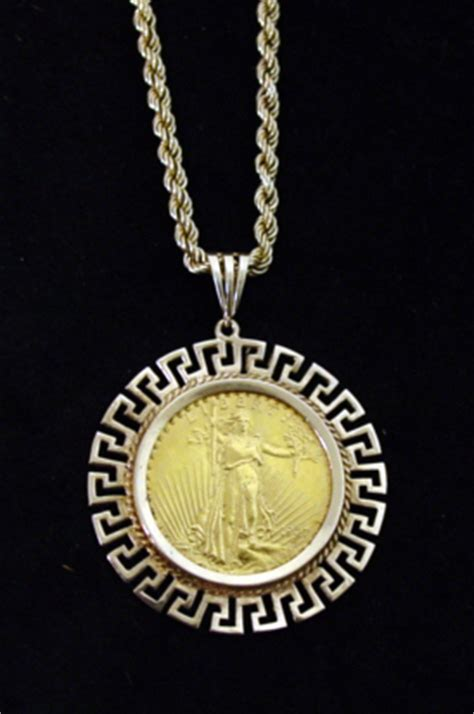 20 dollar gold coin pendant and rope necklace 2