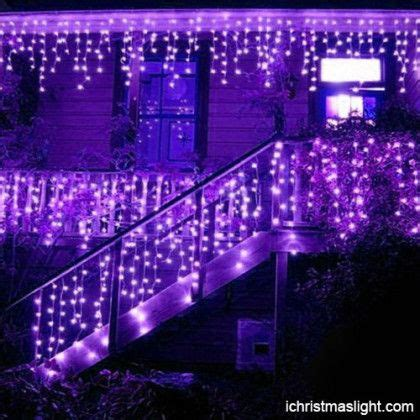christmas decorative purple icicle lights led icicle