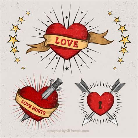 tattooed heart descargar corazones en estilo del tatuaje descargar vectores gratis