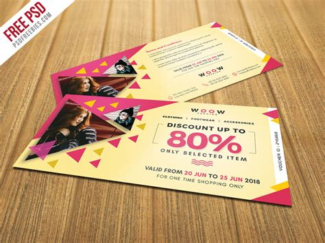 discount card template psd fashion sale discount coupon psd template psdfreebies