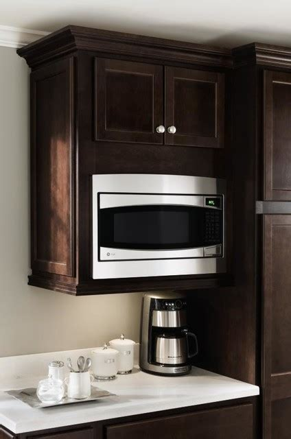 Microwave In Kitchen Cabinet Homecrest Microwave Cabinet Other Metro By Masterbrand