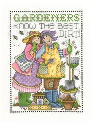 Kain Aida Kristik Cross Stitch 14ct Garden Pearl Blue quot the best dirt quot by imaginating
