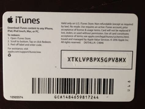 Itunes Gift Card Back - itunes gift card 5 usa photo of the back side sale