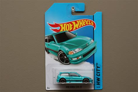 Hotwheels Honda Civic Ef Us Card wheels 2014 hw city 1990 honda civic ef turquoise