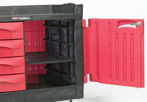 rubbermaid trademaster cart with cabinet rubbermaid 4548 88 trademaster cart with 4 drawer and