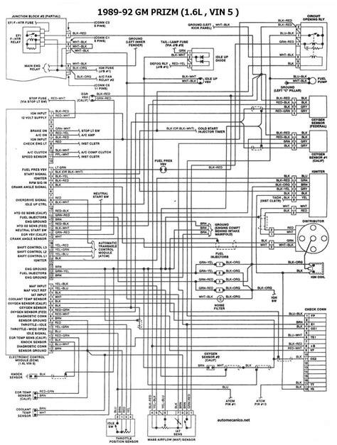 G. MOTORS Geo 1986/93 | Diagramas, esquemas, graphics