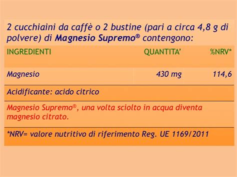 magnesio supremo ingredienti magnesio supremo 174 magnesio solubile naturopatia shop