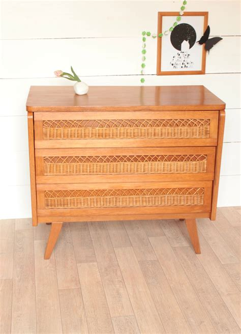 Commode Vintage Annee 50 by Commode Vintage 233 Es 50 Tiroirs Rotin Trendy