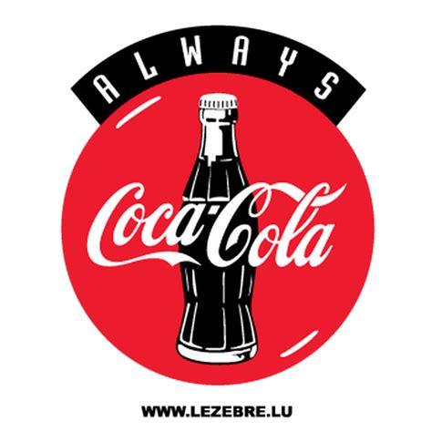 Aufkleber Coca Cola by Sticker Always Coca Cola