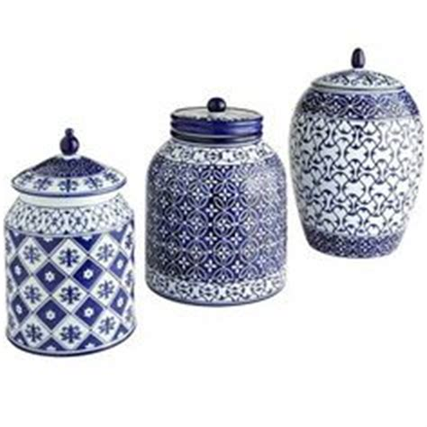 blue and white kitchen canisters 1000 ideas about blue kitchen decor on kitchen wall tiles kitchen shelves and