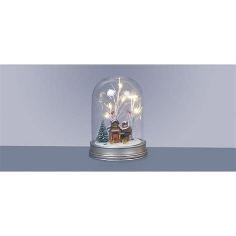 Premier Decorations Uk by Premier Decorations 29cm Battery Operated Lit Glass Dome