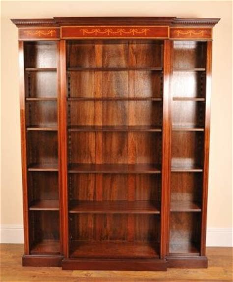 sheraton open breakfront bookcase for sale