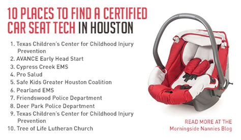 10 places to find a certified car seat tech in houston