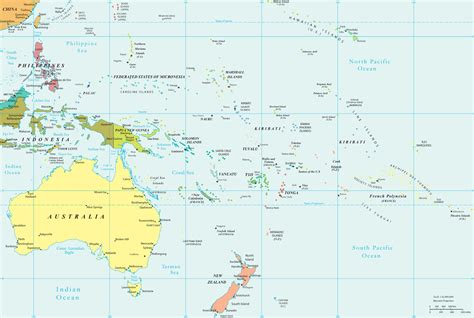 australia and oceania map political map of oceania pacific islands