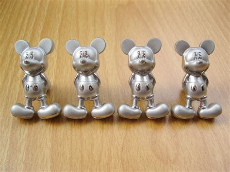 mickey mouse metal kitchen cabinet door knobs drawer pulls