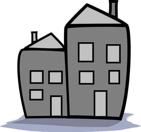 grey house free vector graphic home housing condo cartoon gray