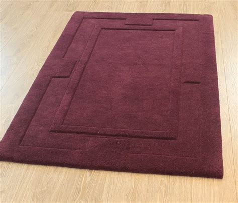 Purple Plum Rugs by Modern Purple Aubergine Plum Colour Rugs In Large Small