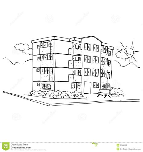 apartment coloring page apartment building stock illustration illustration of