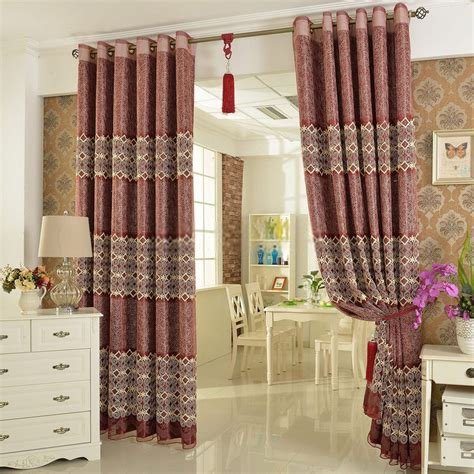 bedroom curtain patterns luxury bedroom curtains with retro patterns of poly and