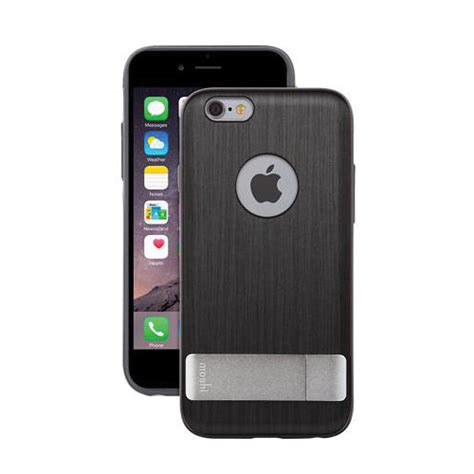 iphone b h moshi kameleon for iphone 6 6s steel black 99mo079022 b h