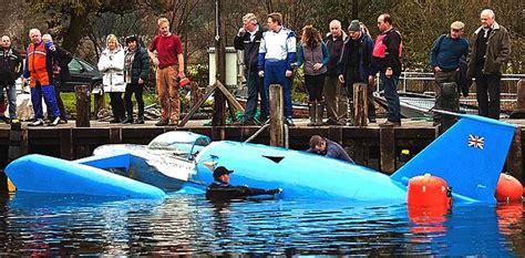 sinking jet boat bluebird k7 jet hydroplane world water speed record boat