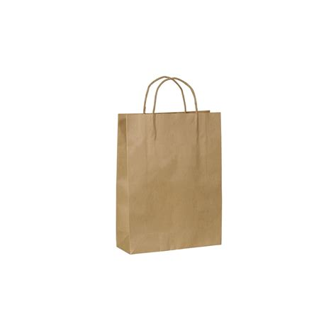 Paper Bags - kraft paper bag small with handle 260 w x 350 h x 95mm