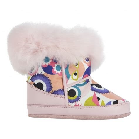 Pink Purse Speakers With Faux Fur Trim by Fendi Baby Multicoloured Bag Bug Eye Print Winter