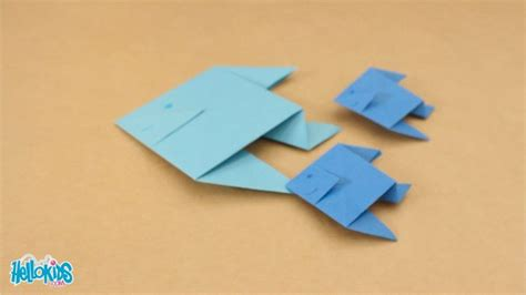Origami Fishing Boat - how to craft origami fish 2 hellokids