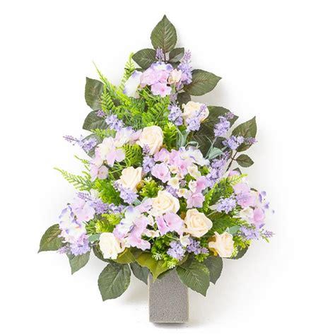 fiori artificiali mazzo di bianche e ortensie in plastica con verde