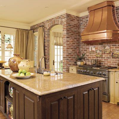 southern living kitchens ideas brick and copper kitchen idea house kitchens copper